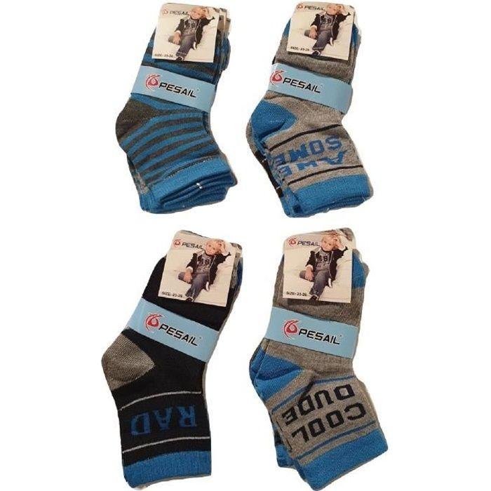 Lot 12 paires chaussettes garçon,chaussette enfant,chaussettes cotonMuliticolore