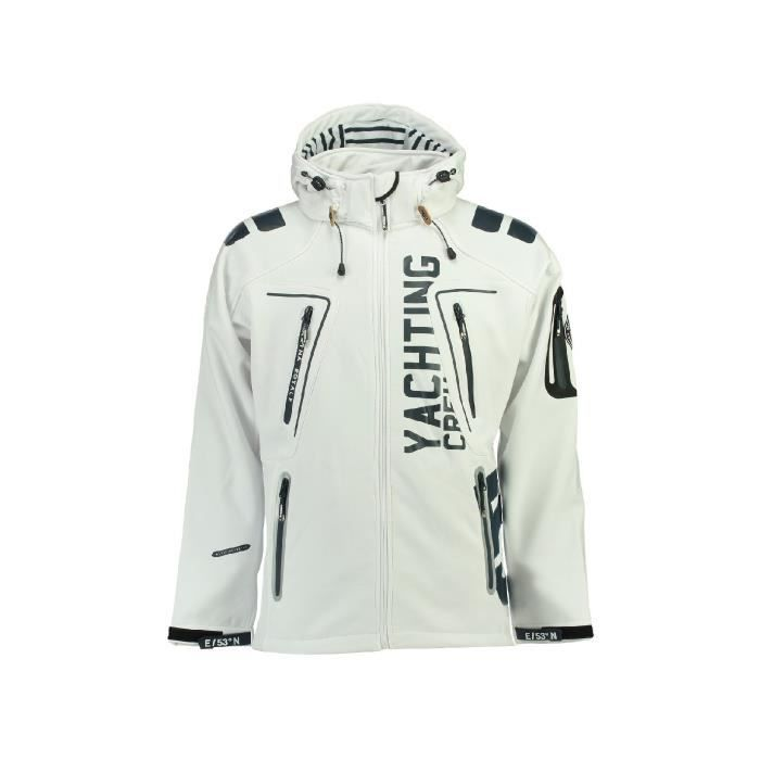 Softshell Homme Geographical Norway Toublerona Blanc