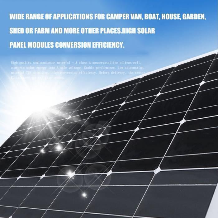 160W Dispositif de charge solaire extérieur ultra mince Portable panneau solaire monocristallin alimentation