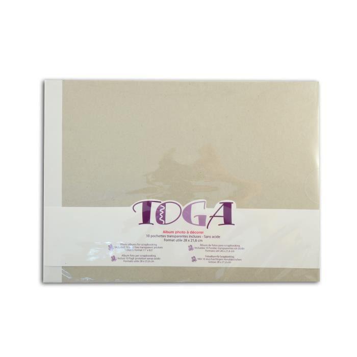 TOGA Album à décorer - 21,6 x 28 cm