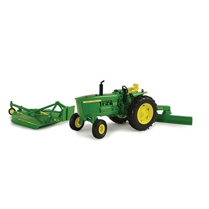 Voiture Electrique TOMY K6DKS Big Farm John Deere 4020 Véhicule avec lame arrière et Mower