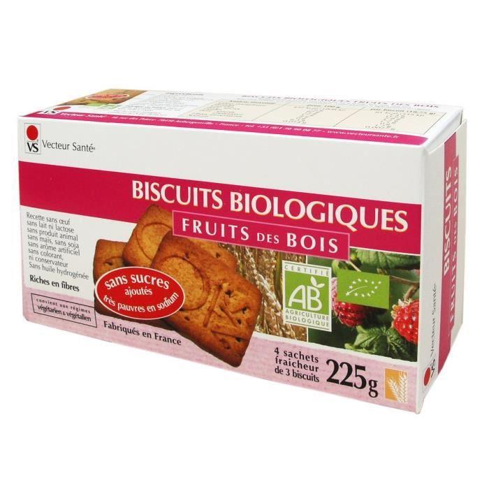 Biscuits fruits des bois sans sucre ni sel BIO - b