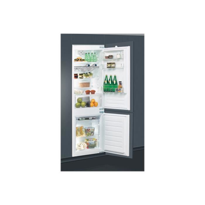 Whirlpool ART 6612-A++ Réfrigérateur-congélateur intégrable niche largeur : 56 cm profondeur : 56 cm hauteur : 177.6 cm 275…