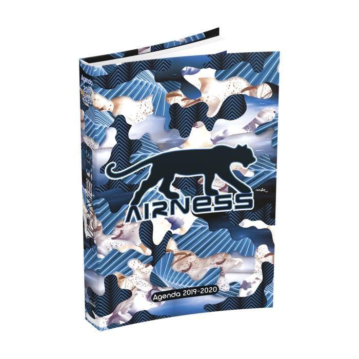 AIRNESS Agenda 400118741 - 12 x 17 cm - 1 jour par page - Couverture Souple - 352 P