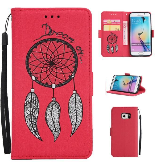 coque portefeuille samsung galaxy s6 edge