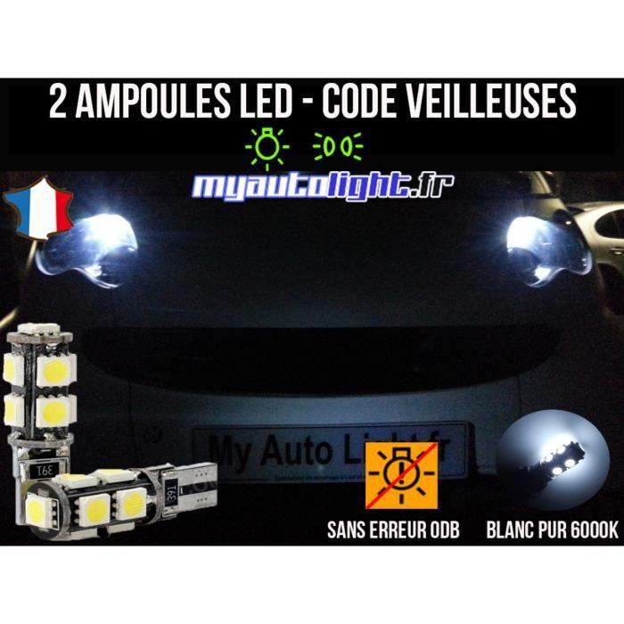 Blanc Pur Effet X/énon MyAutoLight Veilleuses Pack Ampoules Voiture Pour CLASSE A W169