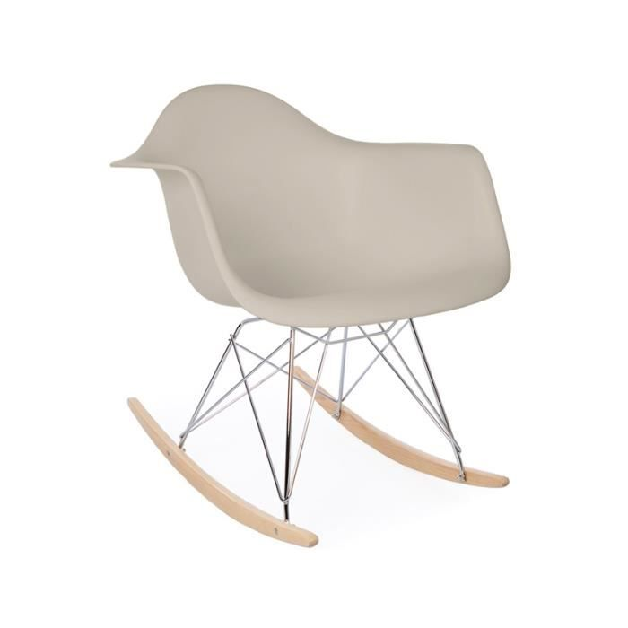 Eames rocking chair rar gris clair achat vente for Fauteuil eames rocking chair