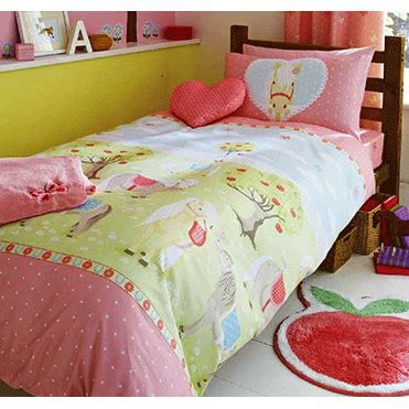 parure de lit enfant poney cheval achat vente parure. Black Bedroom Furniture Sets. Home Design Ideas