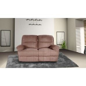 Canap 2 places relax microfibre coloris taupe achat vente canap sofa - Canape relax microfibre ...