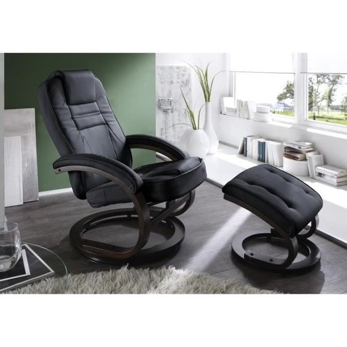 fauteuil de relaxation avec repose pieds 99cm achat. Black Bedroom Furniture Sets. Home Design Ideas