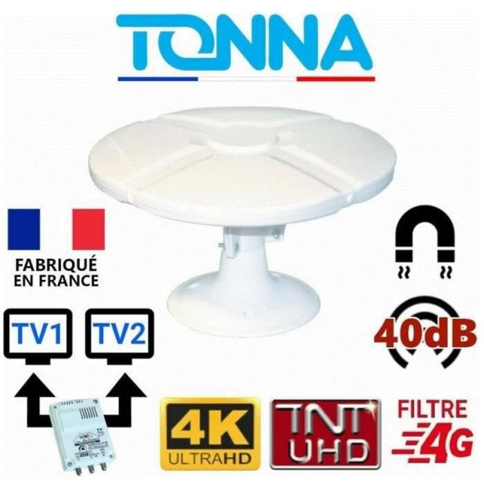 Antenne TNT omnidirectionnelle 35 db , camping car