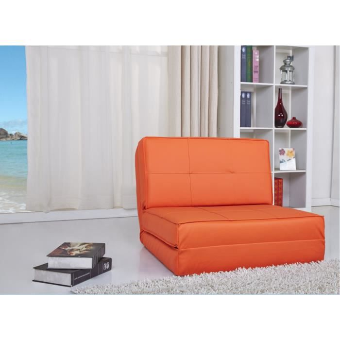 fauteuil chauffeuse convertible en lit d 39 appoint achat vente chauffeuse orange soldes d s. Black Bedroom Furniture Sets. Home Design Ideas