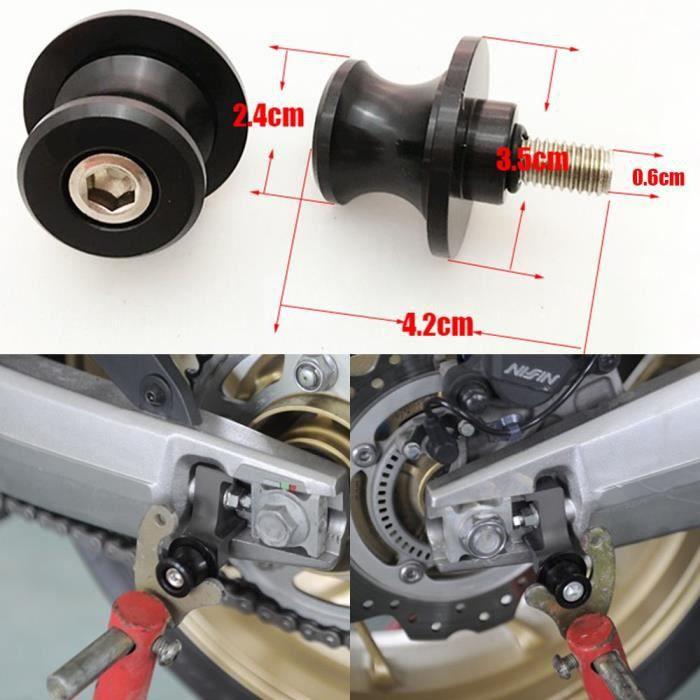 Moto Bequille Diabolos Color/é M8 Chrome Accessoires Garage Reparation noir