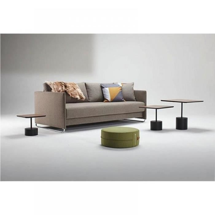 Upend canape design taupe brown mixed dance conver achat vente canap sofa divan for Achat canape design