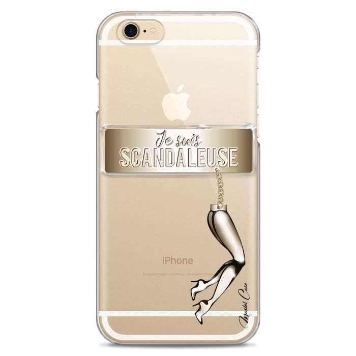 coque iphone 6 6s transparente motif design dessi