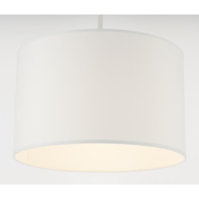 Suspension luminaire cylindre blanc metropolight achat for Luminaire suspension blanc