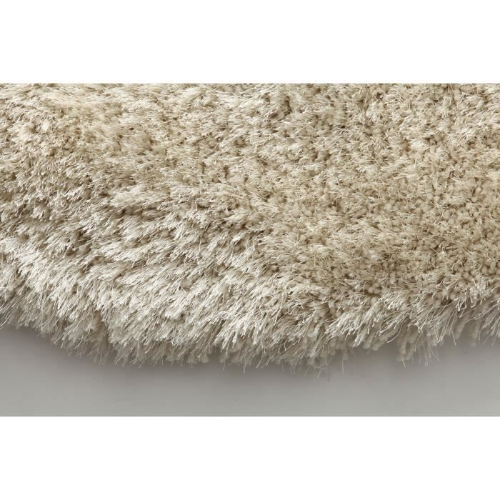 miliboo tapis shaggy rond blanc 150 cm ugo achat vente tapis cdiscount. Black Bedroom Furniture Sets. Home Design Ideas