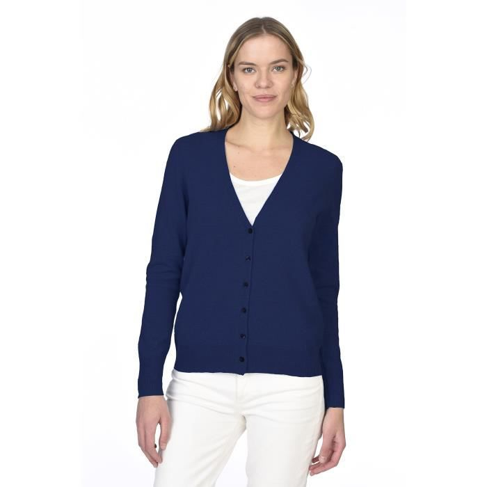 Cashmere 100 Women's Button CARDIGAN GILET Sleev Pure Front Long RxzHwn