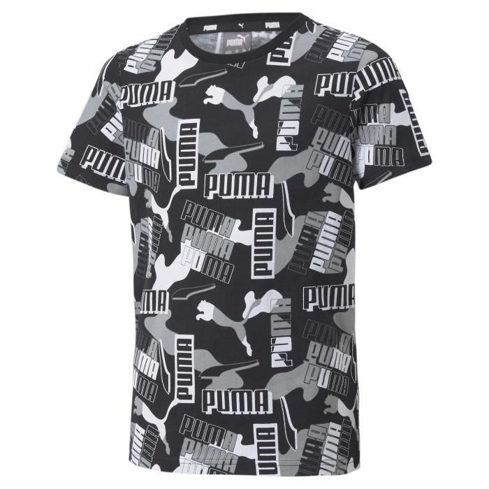 T-shirt enfant Puma Alpha AOP - noir - 14 ans