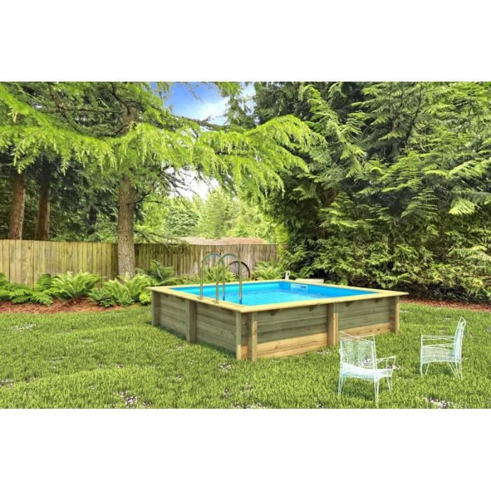 piscine bois weva rectangulaire 3m x 3m x achat vente piscine piscine bois weva. Black Bedroom Furniture Sets. Home Design Ideas