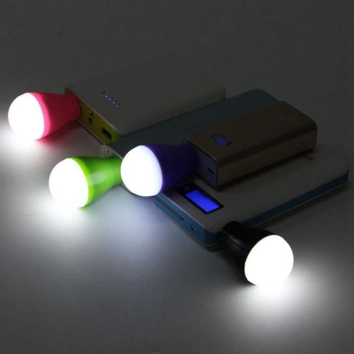 AUTRE PERIPHERIQUE USB  5W Mini Portable USB LED Ampoule Lampe PC Ordinate