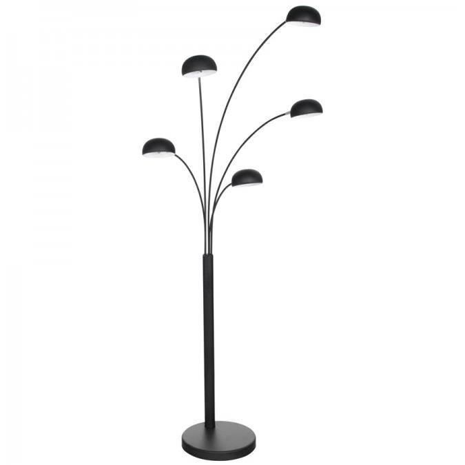 lampadaire 5 branches lucce noir achat vente lampadaire 5 branches lucce m tal french. Black Bedroom Furniture Sets. Home Design Ideas