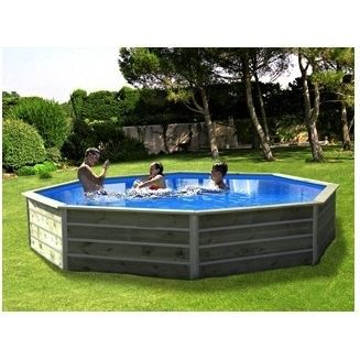 Piscine bois ronde waterclip kid 310 x 76 cm achat for Piscine bois ronde