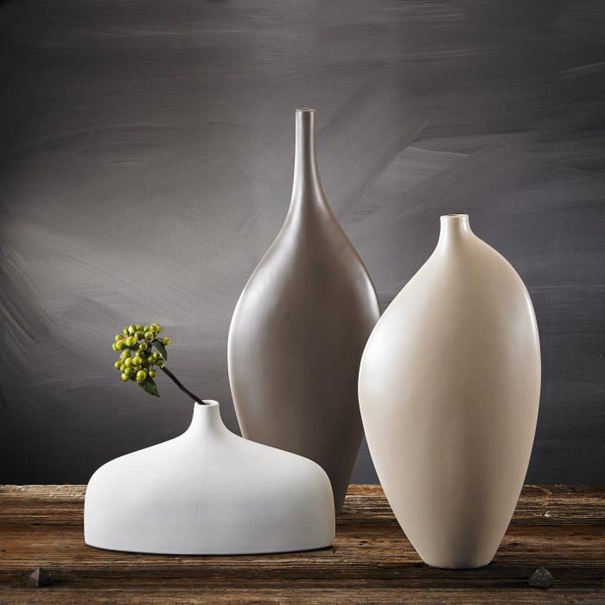 Décoration Entrée De Maison pure.lifestyle 3pcs vases fleur soliflore 3 couleurs