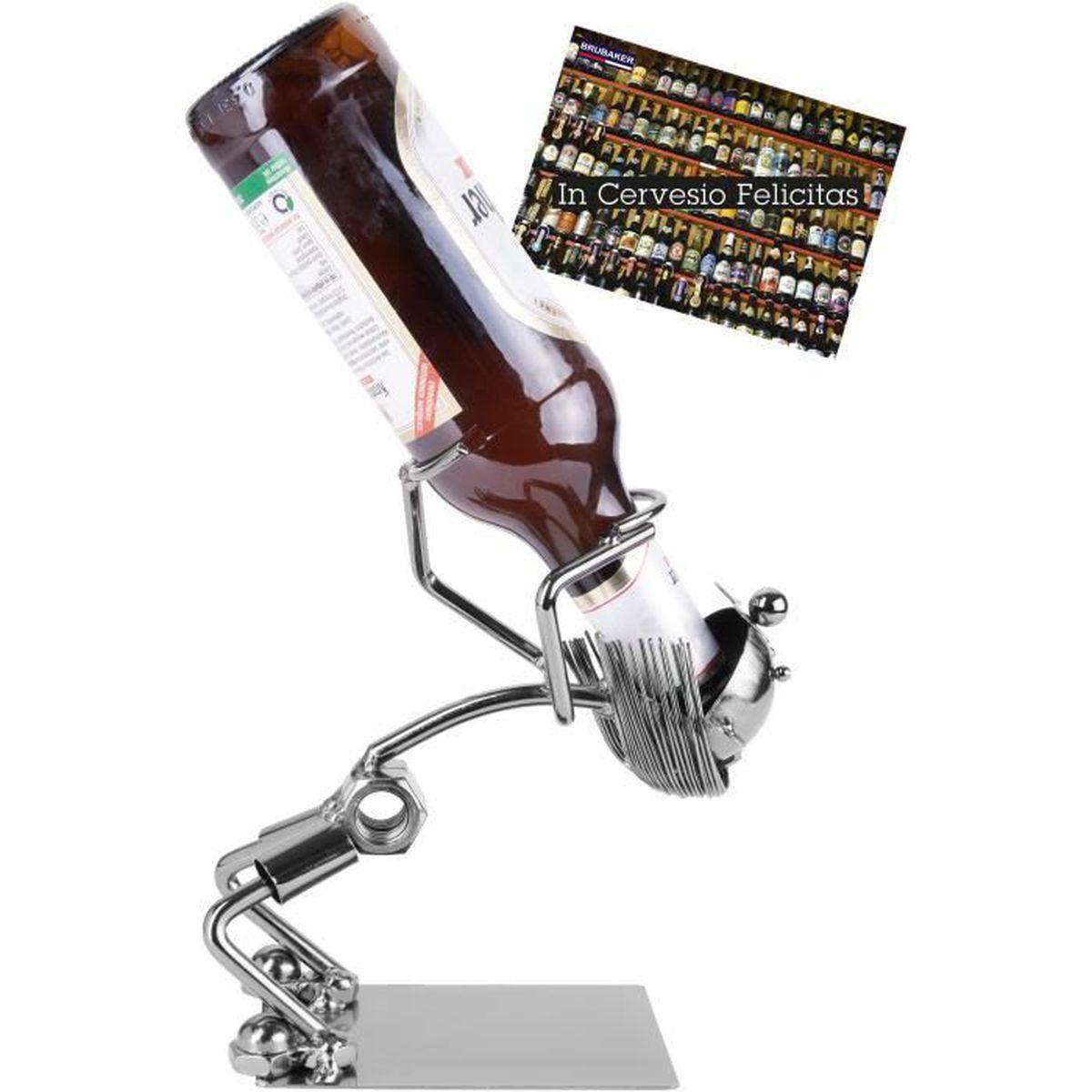 Carte-cadeau BRUBAKER Porte-bouteille de Bière Chirurgien Sculpture en Métal