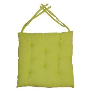 COUSSIN DE CHAISE  Nebatte Galette de chaise 8 points 40x40x4 cm VERT