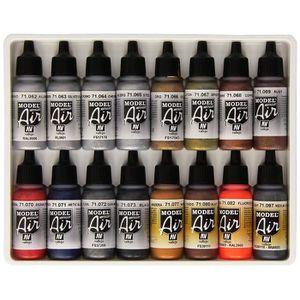 PEINTURE ACRYLIQUE Vallejo Lot de 16pots de peinture acrylique pour