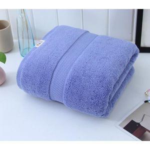 SERVIETTES DE BAIN Serviette de bain Bleu unie pas cher absorbantes f