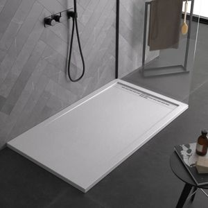 couleur blanc The Living Design Setubal/ /–/ Receveur de douche Acrylique Polyester, 90/ x 70/ x 6/ cm