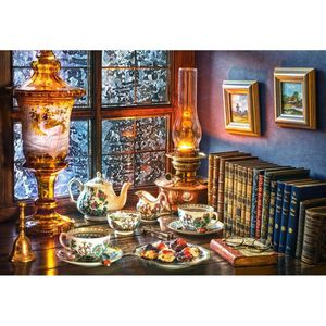 PUZZLE Castorland Afternoon Tea, Jigsaw puzzle, Art, Enfa