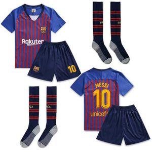 MAILLOT FOOT AMERICAIN MESSI NO.10 Jersey Enfant Maillots Foot et Shorts