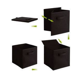 BOITE DE RANGEMENT 12 PCS boites de rangement en tissu non-tissé + ca