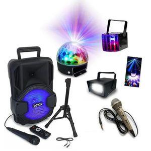 JEUX DE LUMIERE SONO PORTABLE 200W ENCEINTE USB BLUETOOTH FM + MAC