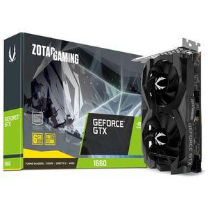 CARTE GRAPHIQUE INTERNE ZOTAC GAMING GeForce GTX 1660 Twin Fan, 6144 MB GD