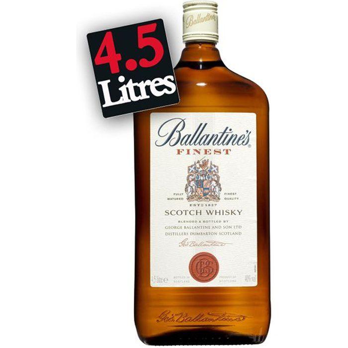 WHISKY BOURBON SCOTCH Ballantine's Finest Gallon 4.5L