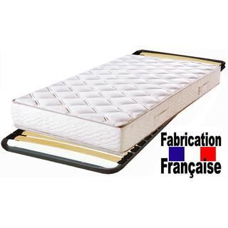 pack cadre lattes 80x200 matelas polyur thane da achat vente ensemble literie cdiscount. Black Bedroom Furniture Sets. Home Design Ideas