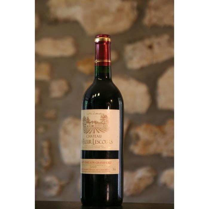 Vin rouge, Château la fleur Lescours 2000 Rouge