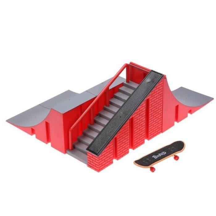 Jeu d'entraînement doigt planche à roulettes avec rampe piste jouet ensemble pour enfants Kate parc touche Mini Skat WL4628