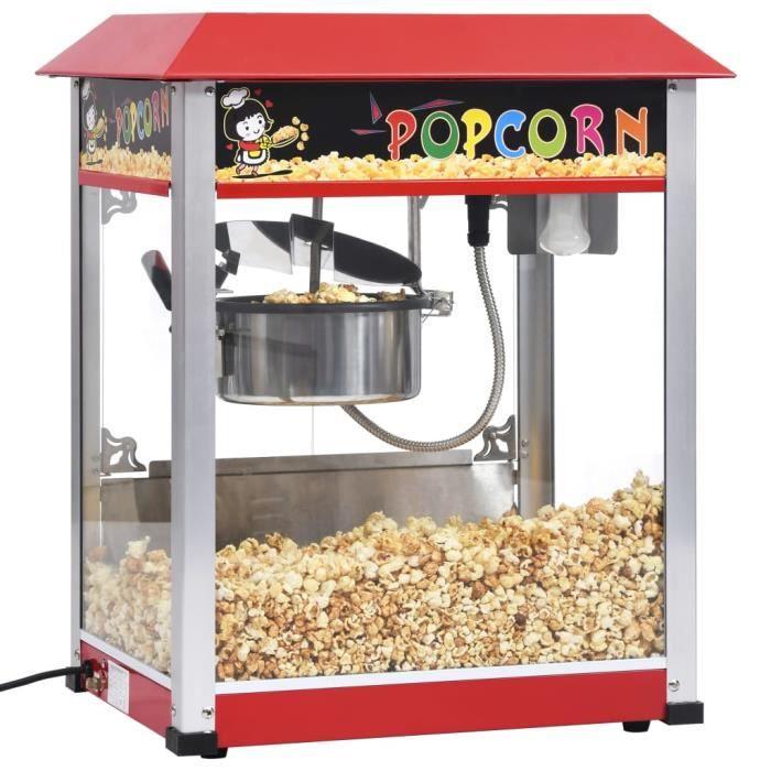 MEUBLE® Machine à pop-corn Professionnel - électrique avec pot de cuisson en téflon 1400 W ♕4293