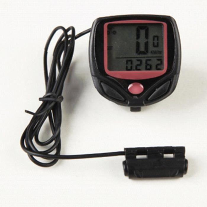 Jauge de carburant,Compteur de vélo filaire et sans fil, étanche, odomètre, chronomètre, indique la vitesse, affichage - Type 1PCS