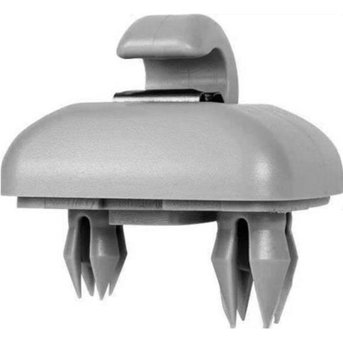 Support de crochet de support de clip de pare-soleil automatique de rempler pour Audi A1 A3 A4 A5 Q3 Q5 (8E0 857562) A7 B6 B7 gris