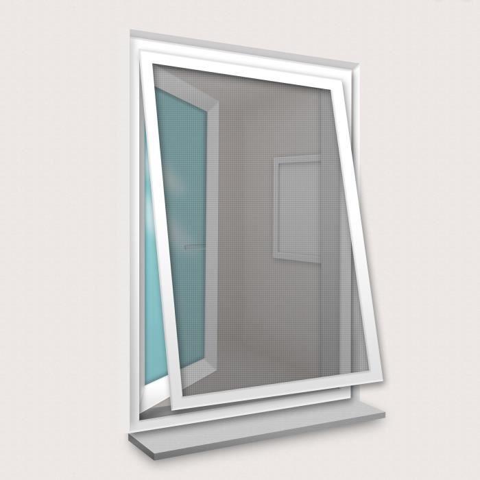 Cadre Moustiquaire pour Fenêtre 100x120 cm Blanc