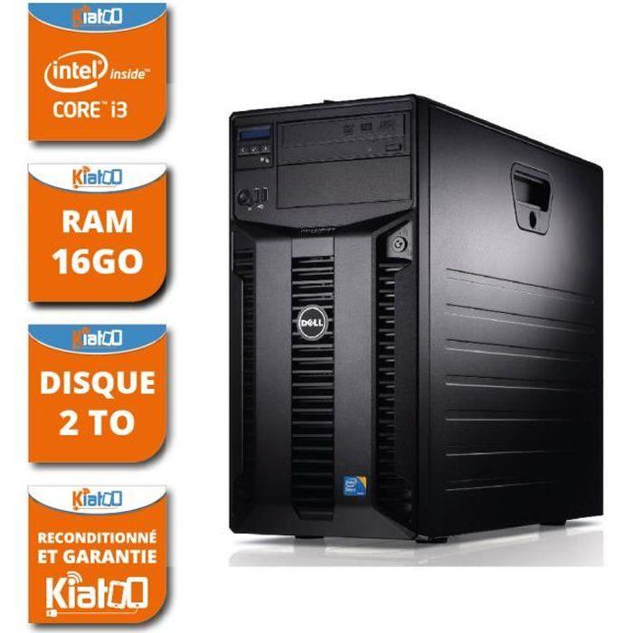 ordinateur de bureau serveur dell poweredge T310 intel core i3 16go ram 2 to disque dur windows 7