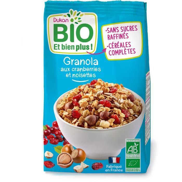 DUKAN Granola bio aux cranberries et noisettes - 350 g
