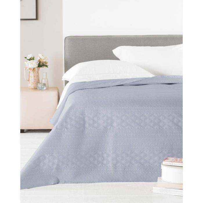 Dessus de Lit Zara 240 x 260 cm Double King-Size Bed – Satin Gris