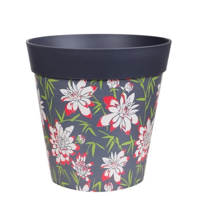 Hum Flowerpots Pot De Fleurs Colorés D'intérieur/Extérieur Bambou Floral